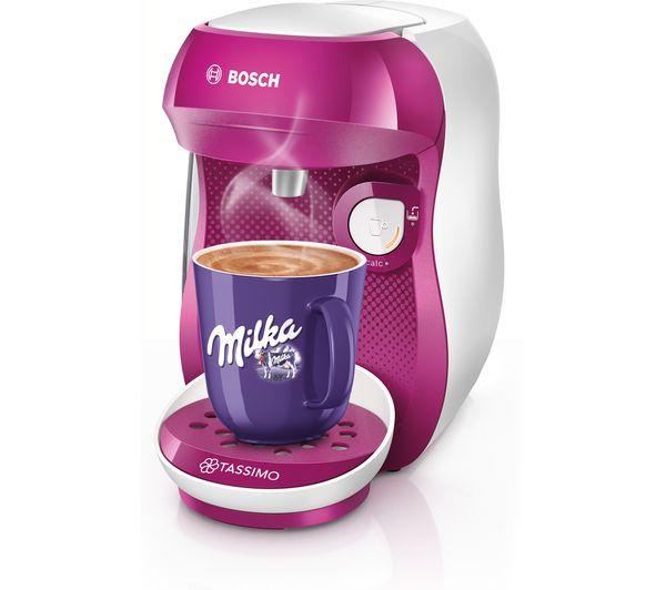 Tassimo By Bosch Happy Tas1001gb Coffee Machine Purple White