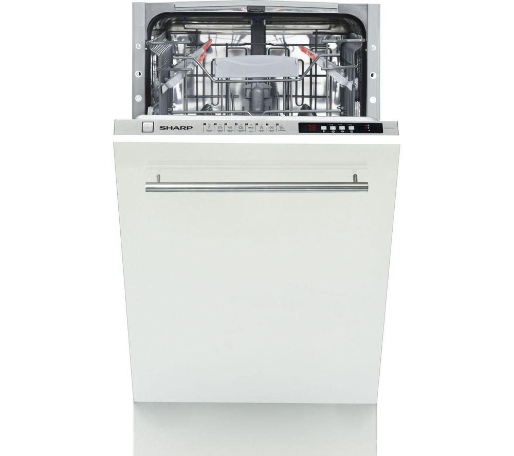 SHARP QW-S32I472X Slimline Fully Integrated Dishwasher