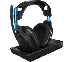 ASTRO A50 Wireless 7.1 Gaming Headset & Base Station - Black & Blue