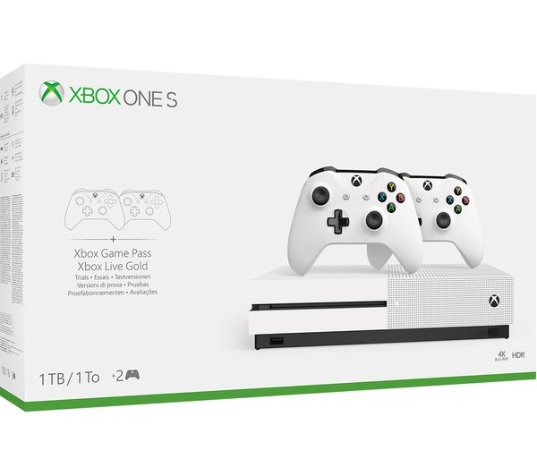 1be0cfce279 234-00604 - MICROSOFT Xbox One S with Dual Wireless Controllers - 1 ...