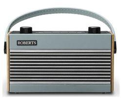 ROBERTS Rambler Portable DAB+/FM Retro Radio - Blue