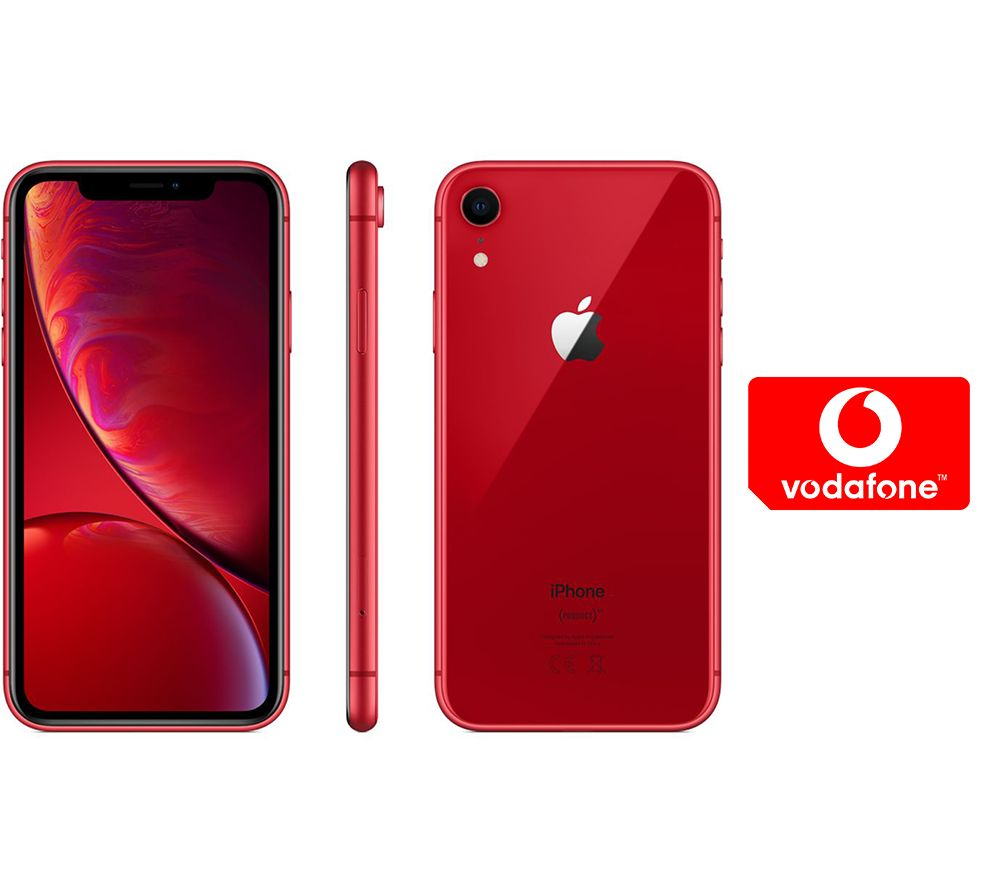 APPLE iPhone XR & Pay As You Go Micro SIM Card Bundle - 64 GB, Red