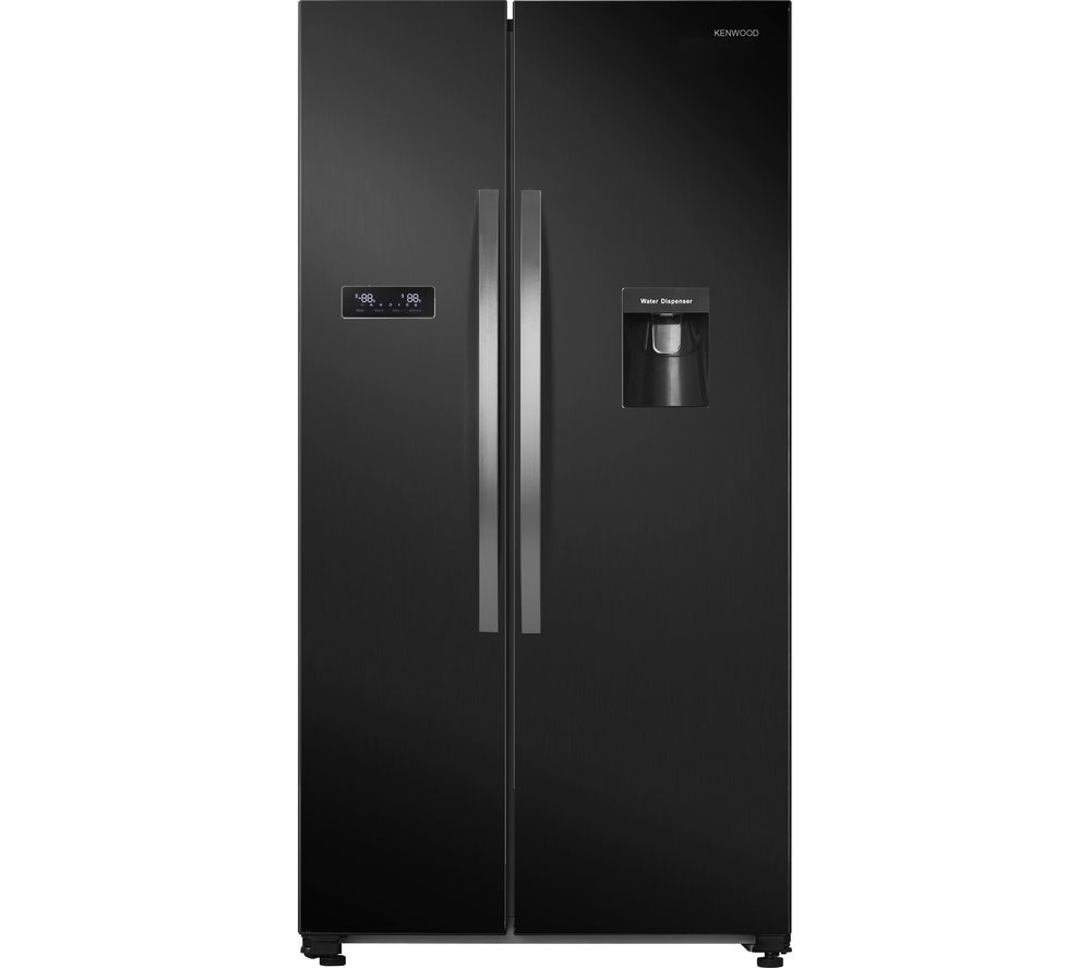 KENWOOD KSBSDB19 American-Style Fridge Freezer - Black