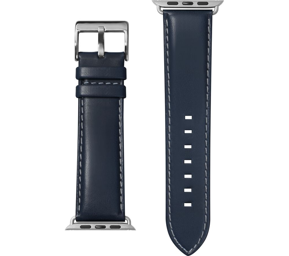 Image of LAUT Apple Watch 42 / 44 mm Oxford Leather Loop Strap - Indigo, Small, Indigo