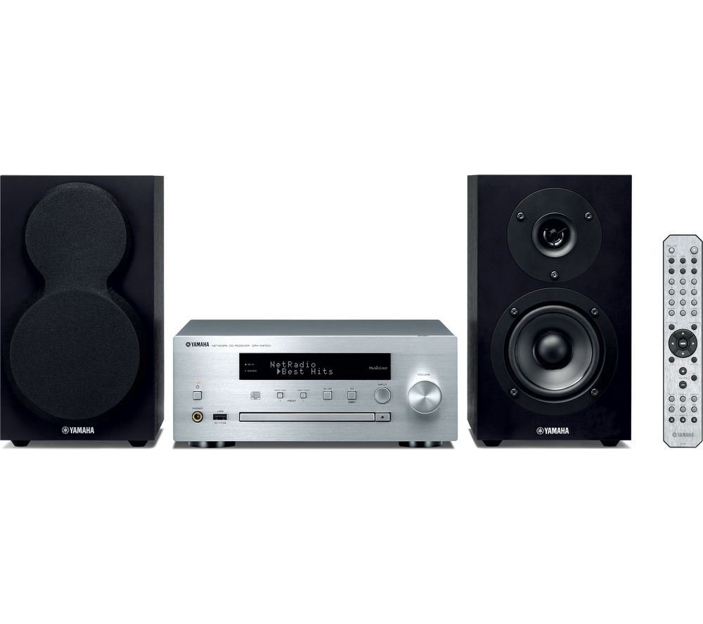 YAMAHA MusicCast MCR-N470D Wireless Multi-room Traditional Hi-Fi System - Silver