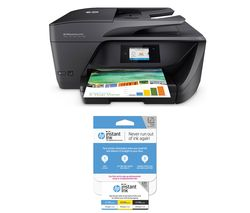 HP Officejet Pro 6960 All-in-One Wireless Inkjet Printer with Fax & Instant Ink £25 Prepaid Card Bundle