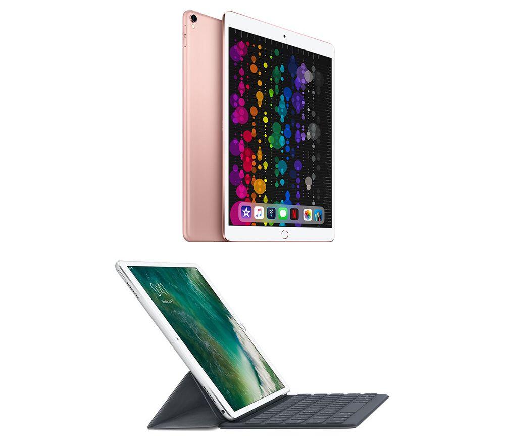 """Image of 10.5"""" iPad Pro & 10.5"""" iPad Smart Keyboard Folio Case Bundle - 512 GB, Rose Gold, Gold"""