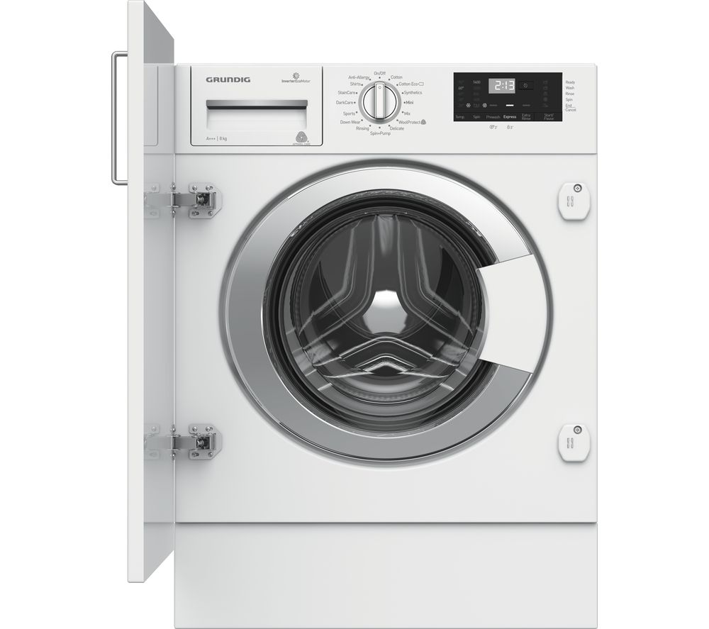 GRUNDIG GWI38430 Integrated 8 kg 1400 Spin Washing Machine