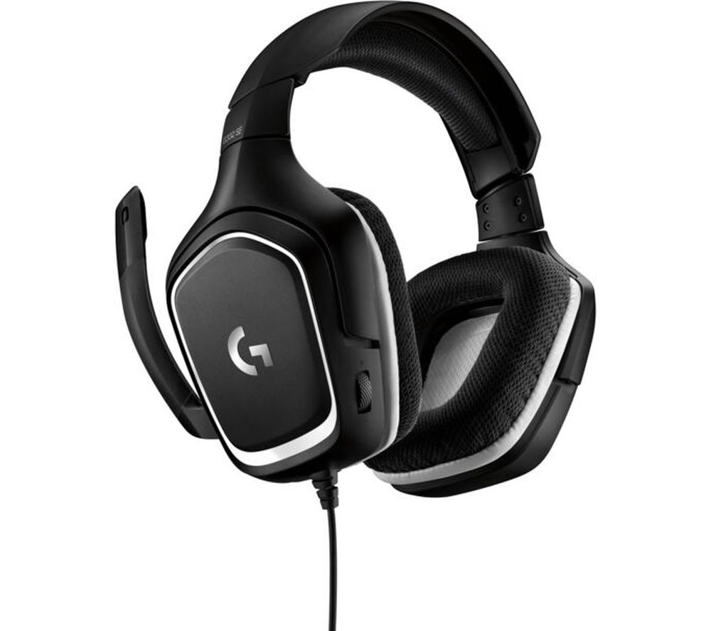 G332 Special Edition Gaming Headset - Black & White, Black