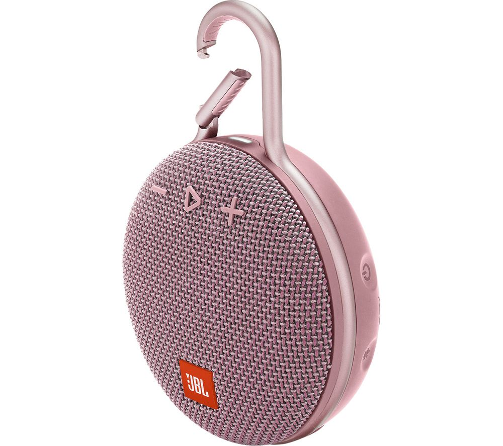 Clip 3 JBLCLIP3PINK Portable Bluetooth Speaker - Pink, Pink