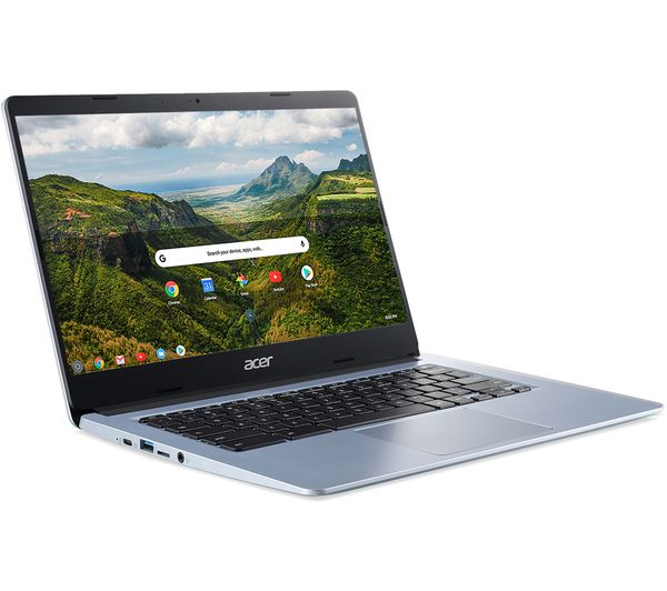 """Image of ACER CB314 Touch 14"""" Chromebook - Intel® Celeron®, 64 GB eMMC, Silver"""