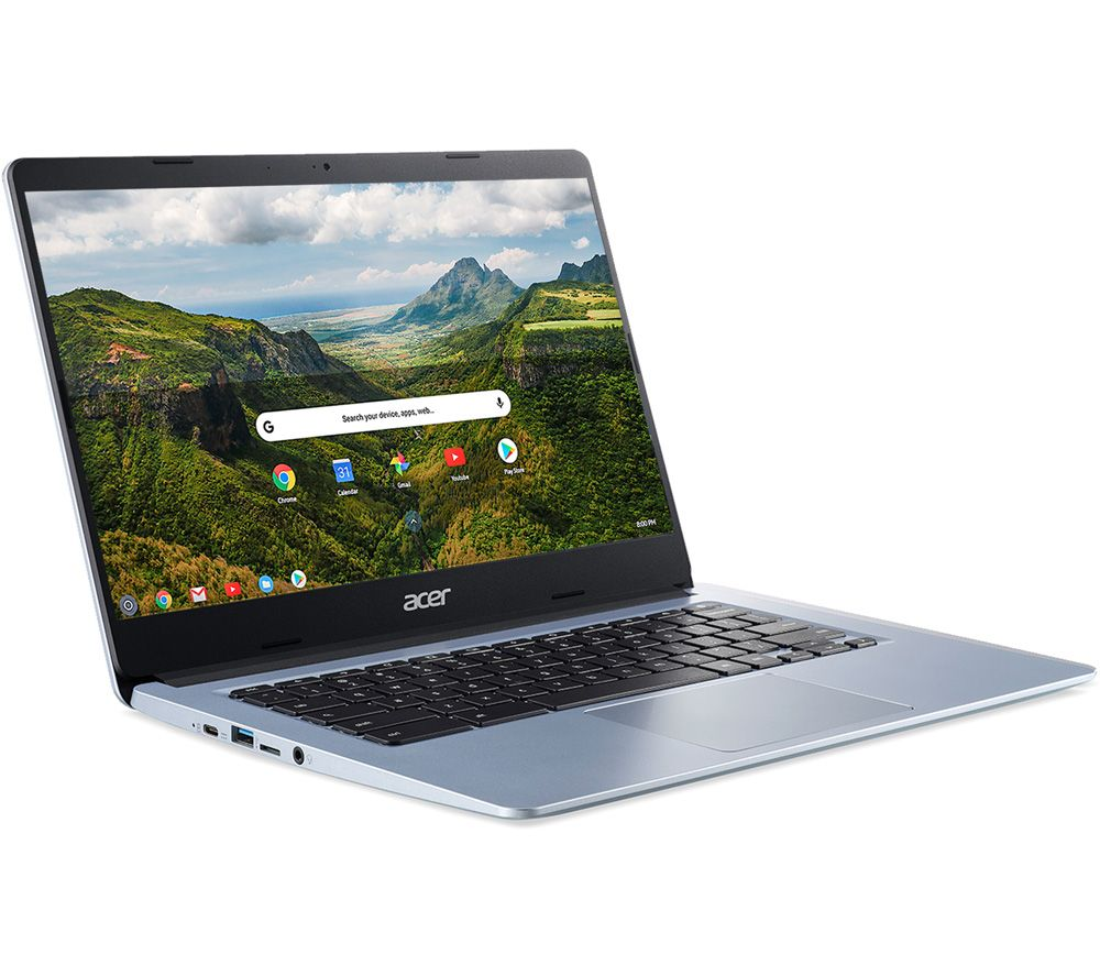 "Image of ACER CB314 Touch 14"" Chromebook - Intelu0026regCeleron, 64 GB eMMC, Silver, Silver"