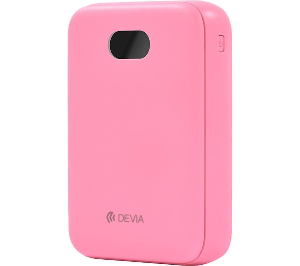 Image of DEVIA DEV-DIGITAL-POW10-PNK Portable Power Bank - Pink, Pink