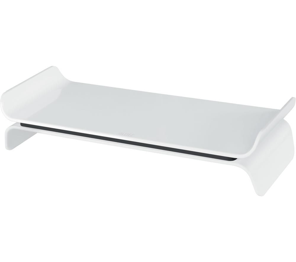 Image of LEITZ Ergo WOW Monitor Stand - Black & White, Black