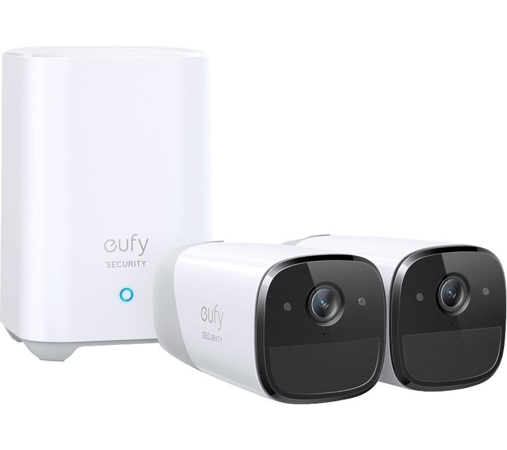 eufyCam 2 Pro 2K WiFi Security Camera System - 2 Cameras