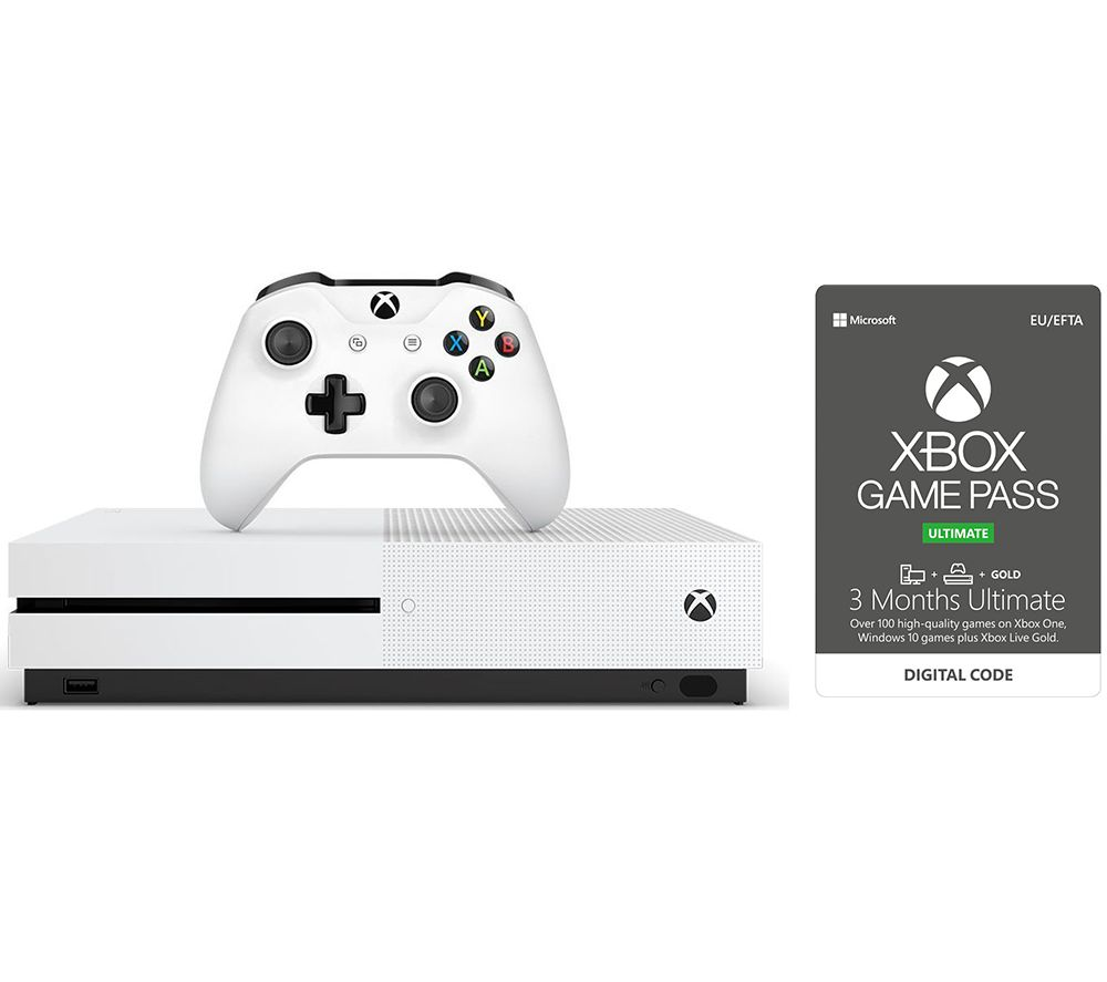 MICROSOFT Xbox One S & 1 Month & 3 Month Game Pass Ultimate Bundle - 1 TB, Gold