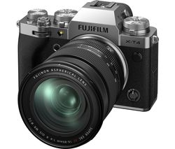 X-T4 Mirrorless Camera with FUJINON XF 16-80 mm f/4 R OIS WR Lens - Silver