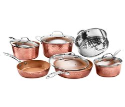 2691 10-piece Non-stick Pan Set - Hammered Copper