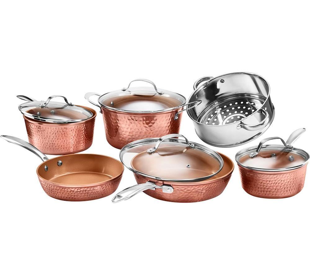 GOTHAM STEEL 2691 10-piece Non-stick Pan Set - Hammered Copper