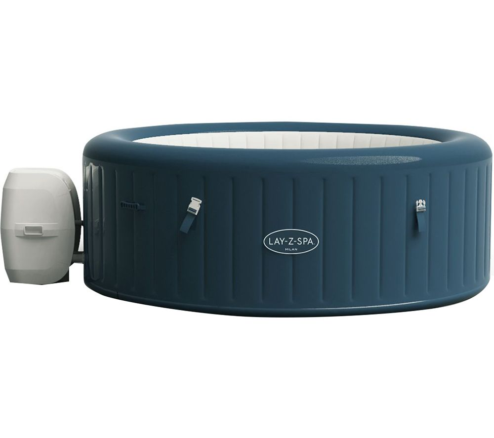 LAY-Z-SPA Milan AirJet Plus Inflatable Hot Tub - Blue, Blue