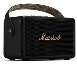 Kilburn II Portable Bluetooth Speaker - Black & Brass