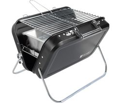 FIR551 Portable Folding Charcoal Grill BBQ - Silver & Black