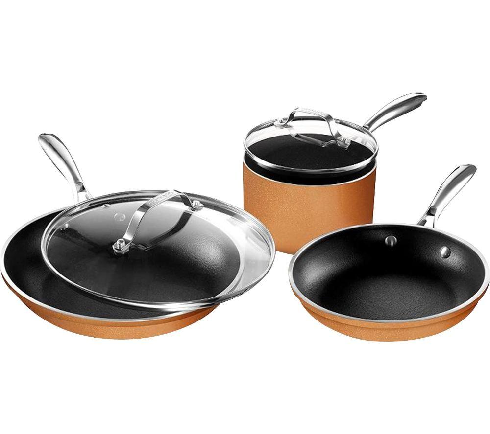GOTHAM STEEL 2913FEMSHG 5-piece Non-stick Pan Set - Copper