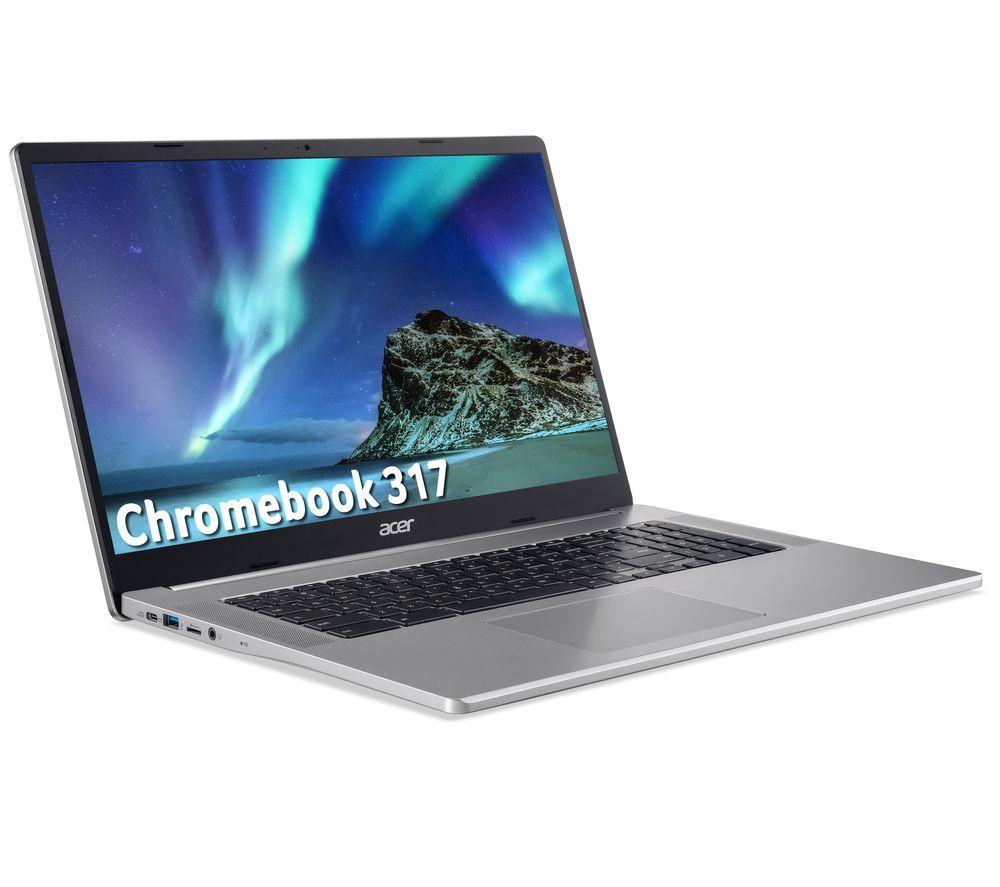 "Image of ACER 317 17.3"" Chromebook - Intel®Celeron, 64 GB eMMC, Silver, Silver"