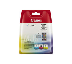 CANON PIXMA CLI-8 Cyan, Magenta & Yellow Ink Cartridges - Multipack