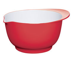 COLOURWORKS 24 cm Mixing Bowl - Red & White