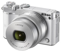 NIKON 1 J5 Mirrorless Camera with 10-30 mm f/3.5-5.6 VR Lens - White