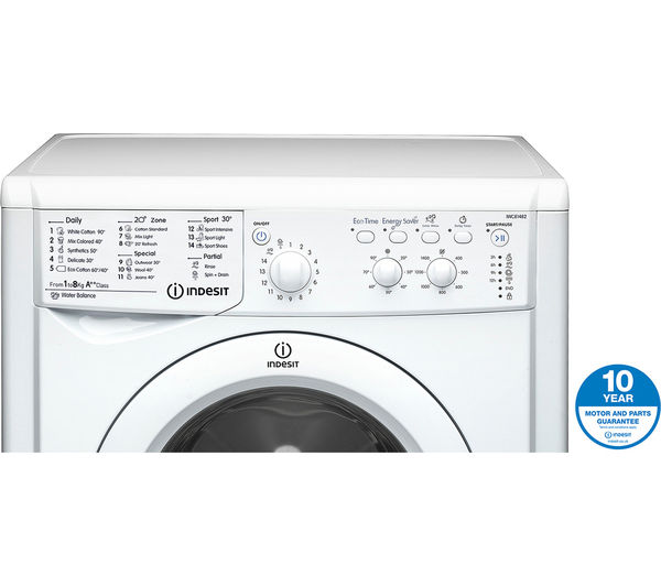Indesit Iwc81482 Eco Washing Machine White Fast Delivery Currysie