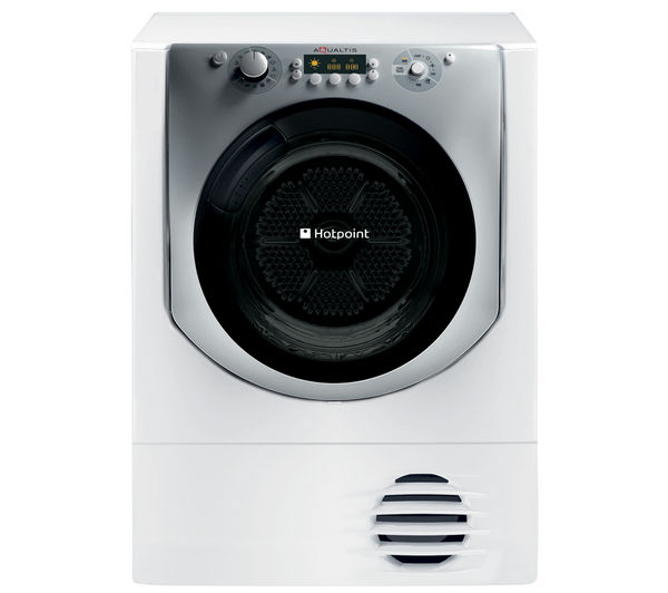 Image of HOTPOINT Aqualtis AQC9 BF7E1 Condenser Tumble Dryer - White