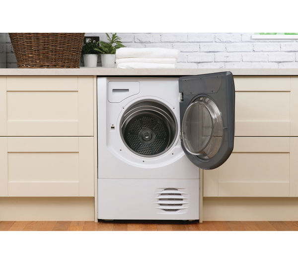 Buy hotpoint aqualtis aqc9 bf7e1 condenser tumble dryer white free delivery currys - Tumble dryer for small space pict ...