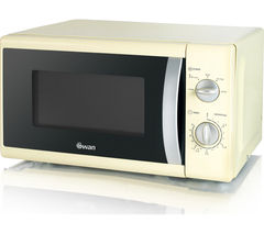 SWAN SM40010CREN Solo Microwave - Cream