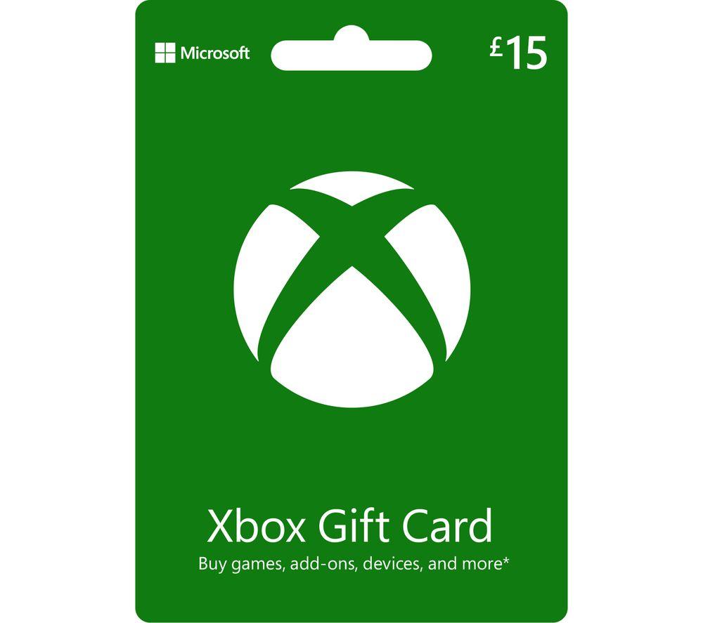 MICROSOFT Xbox Live Gift Card - £15