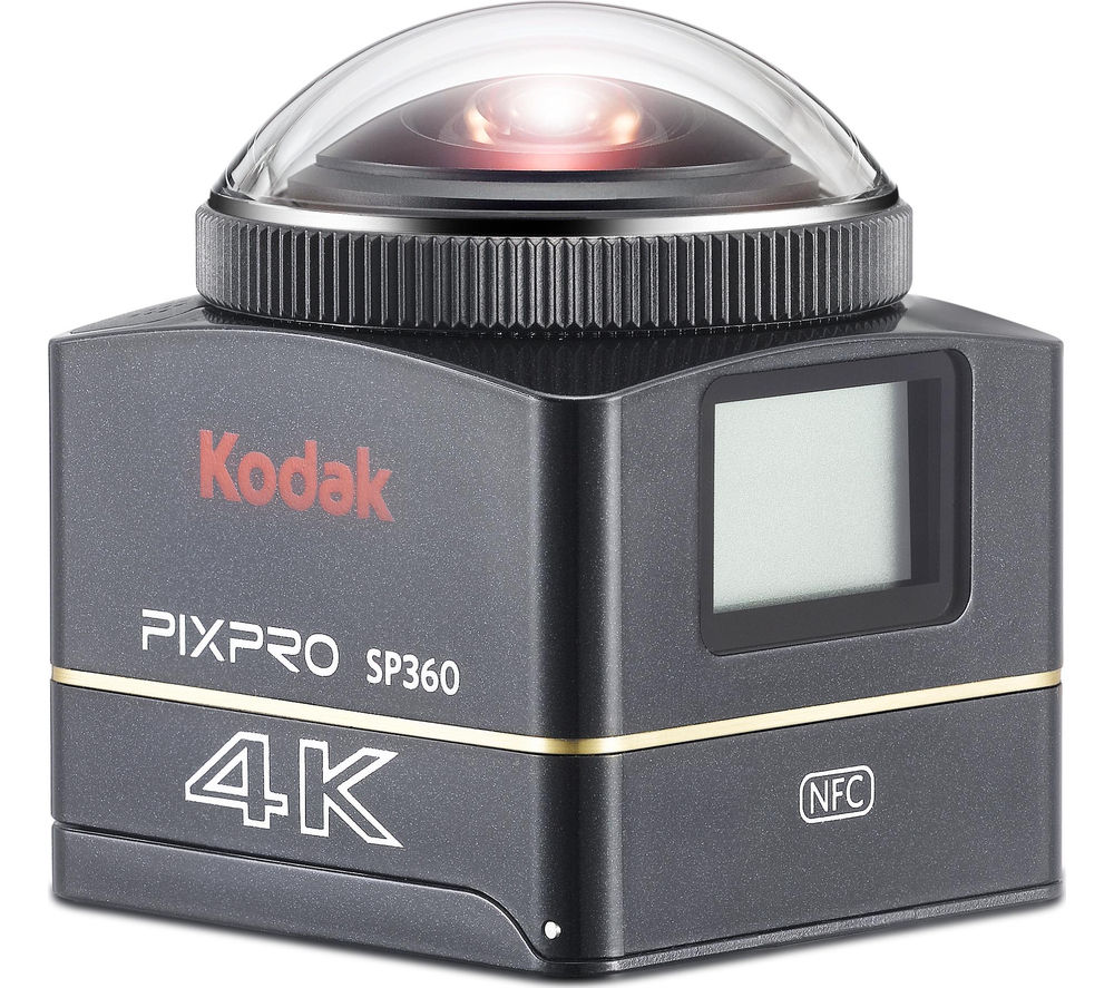 KODAK Explorer SP360 4K Ultra HD 360 Camera - Black + Ultra Performance Class 10 microSDHC Memory Card - 32 GB