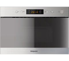 HOTPOINT MN 314 IX H Built-in Microwave with Grill - Stainless Steel Best Price, Cheapest Prices