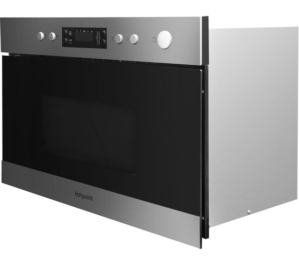 Buy Hotpoint Mn 314 Ix H Built In Microwave With Grill Stainless Steel Free Delivery Currys