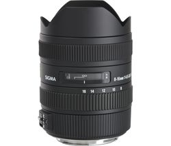 SIGMA 8-16 mm f/4.5-5.6 CD HSM Wide-angle Zoom Lens - for Canon