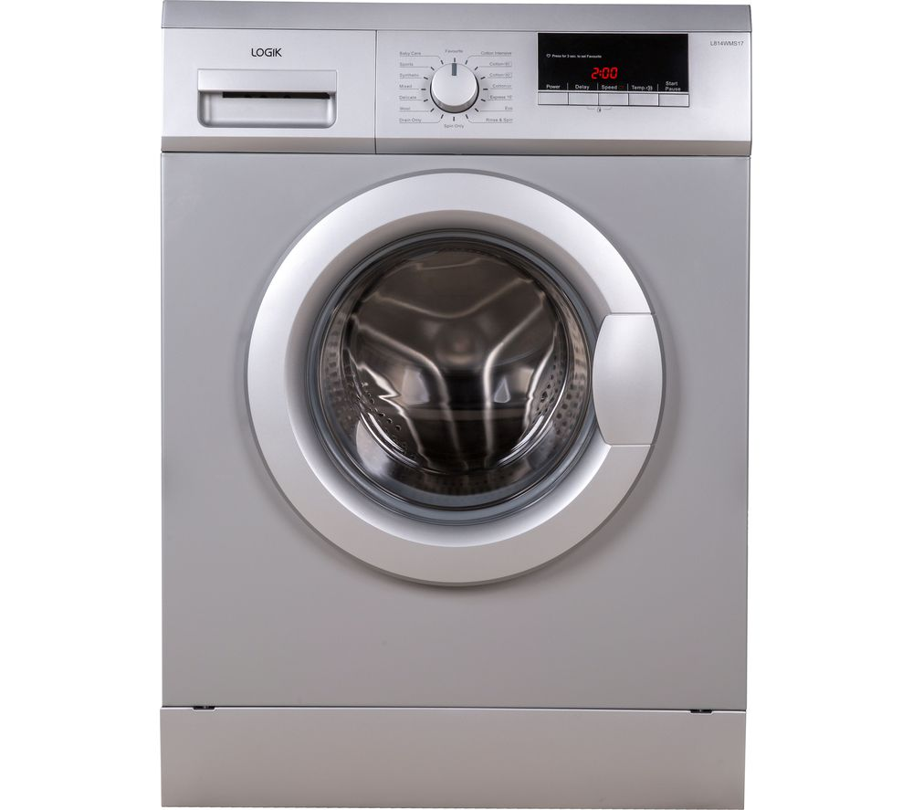 LOGIK L814WMS17 8 kg 1400 Spin Washing Machine - Silver