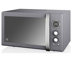 SWAN SM22080GRN Retro Microwave with Grill - Grey