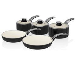Retro SWPS5020BN 5-piece Non-Stick Pan Set - Black