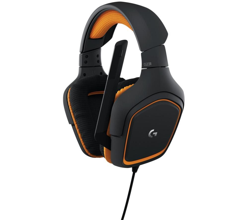 LOGITECH G231 Prodigy 2.1 Gaming Headset - Black & Orange