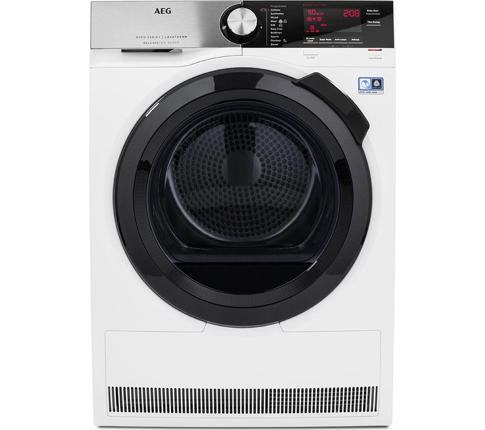 AEG AbsoluteCare T8DSC949R Heat Pump Tumble Dryer - White
