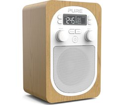 PURE Evoke H2 Portable DAB/FM Clock Radio - Oak