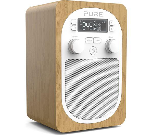Image of PURE Evoke H2 Portable DAB/FM Clock Radio - Oak