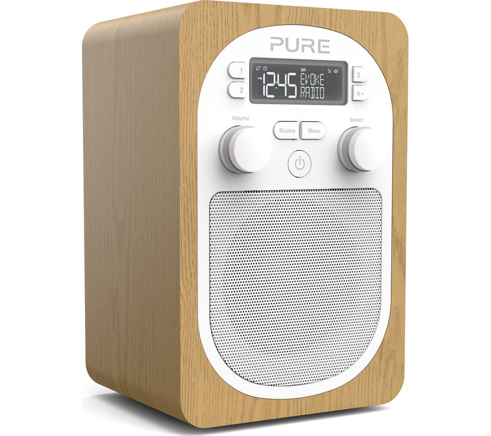 Compare retail prices of Pure Evoke H2 Portable DAB/FM Clock Radio - Oak to get the best deal online