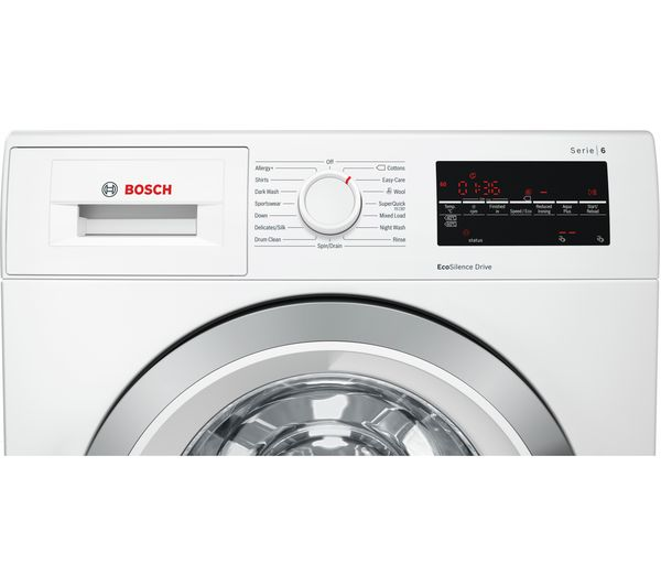 buy bosch serie 6 wat28450gb 9 kg 1400 spin washing machine white free delivery currys. Black Bedroom Furniture Sets. Home Design Ideas