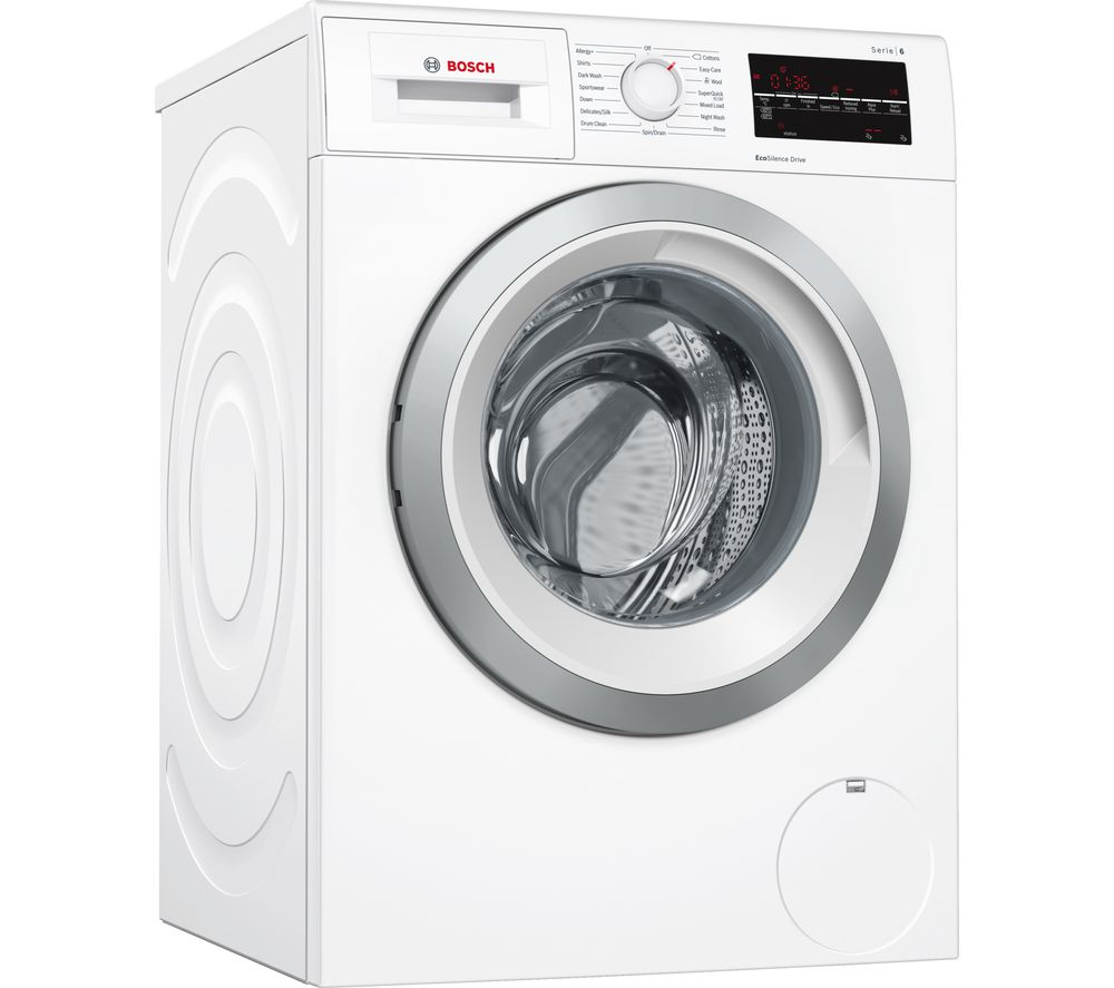Image of BOSCH Serie 6 WAT28450GB 9 kg 1400 Spin Washing Machine - White, White